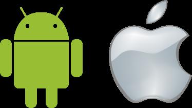 Apple_logo_black + android icon1