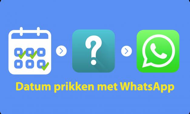 Datum prikken met Whatsapp