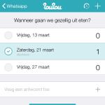 datum prikken met whatsapp en loulou