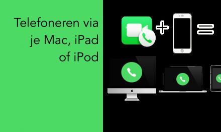 Telefoneren met Mac, iPad of iPod Touch