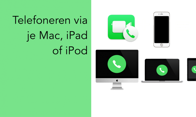 Telefoneren met Mac, iPad of iPod Touch