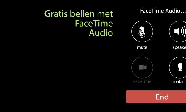 Gratis bellen met FaceTime Audio