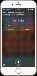 SIRI - Reminders