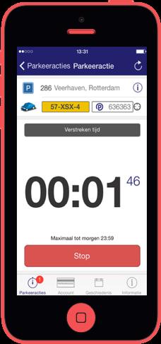iPhone Park-Line parkeeractie