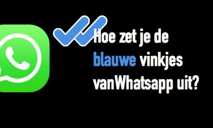 Blauwe vinkjes uitzetten in WhatsApp