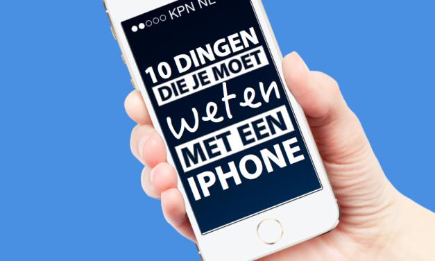 10 dingen die je moet weten met een iPhone