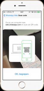 WhatsApp Web QR code on iPhone