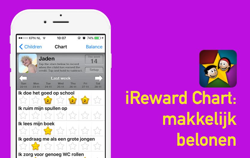 Hulp bij opvoeden: iRewardChart – makkelijk belonen
