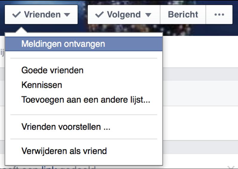 Facebook meldingen ontvangen