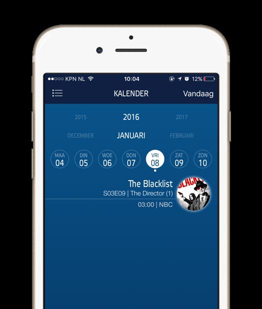 iTV Shows app kalender